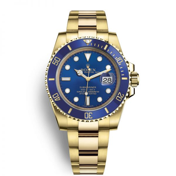 Rolex Submariner 116618LB Herrklocka 40mm Blue Dial Automatic Watch