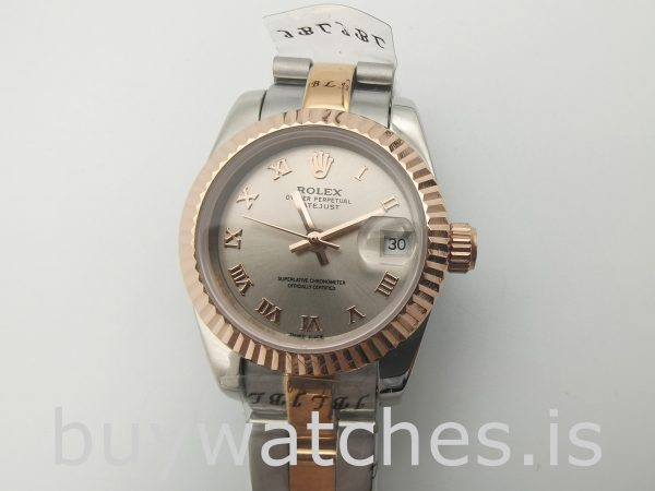 Rolex Datejust 179171 Lady Grey 26mm Steel Rose Gold Automatic Watch